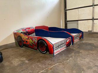 2 Kids Car Beds With Memory Foam Mattress  Thumbnail