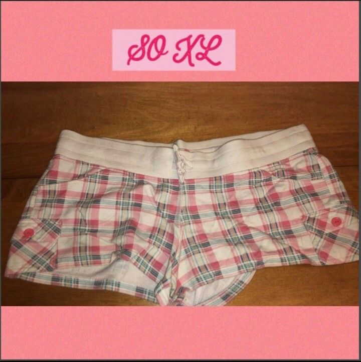 Cute Pink Women's XL Plaid SHORTS w/ pockets PICK UP ONLY IN CHALMETTE