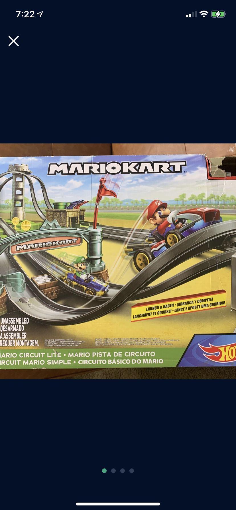 Toys ,a race.  Mariokart