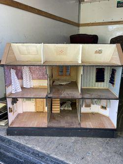 Vintage wooden dollhouse Thumbnail