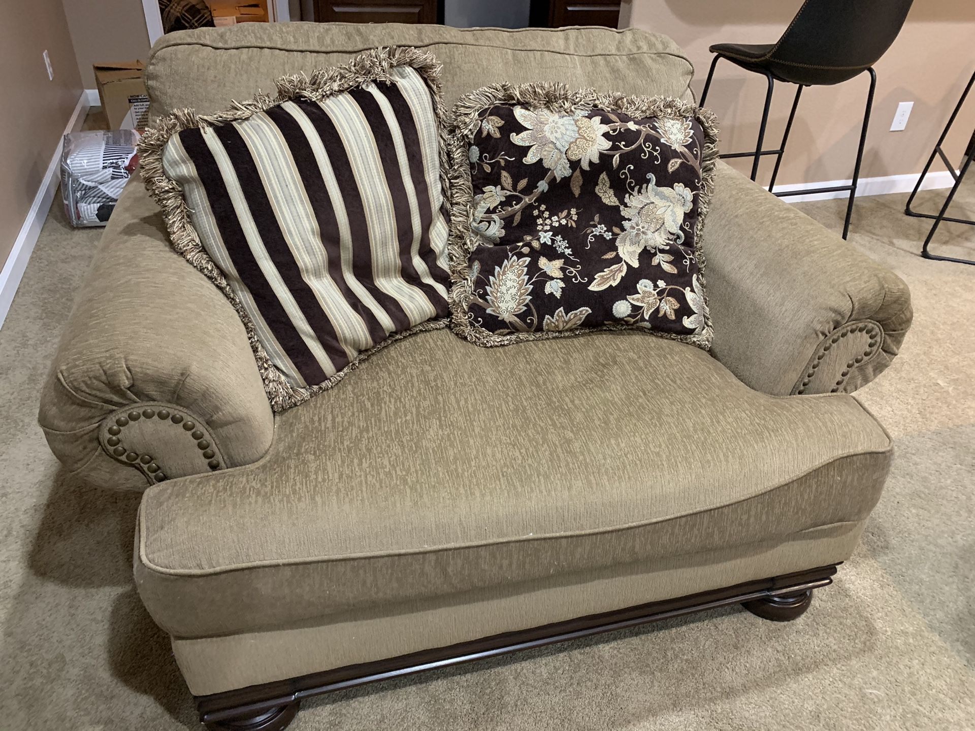 Oversized chair, love seat, and couch in Colorado