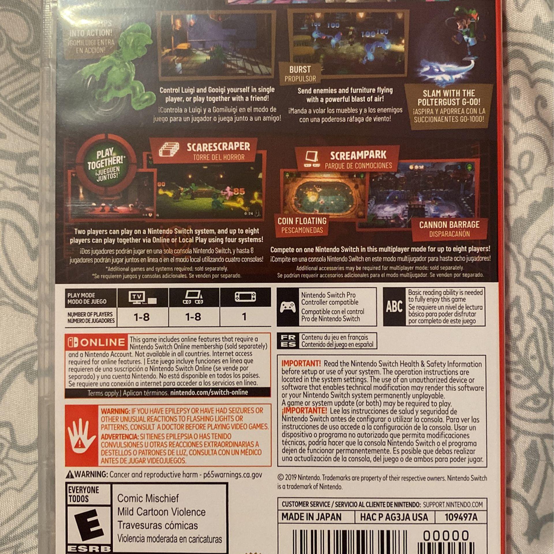 Luigi's Mansion 3 Nintendo Switch Video Game