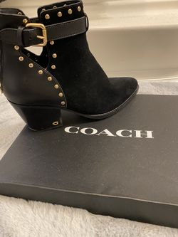 COACH Suede Booties Thumbnail