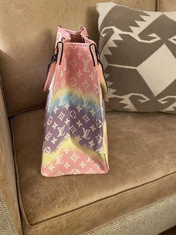Pastel leather monogram bag tote Thumbnail