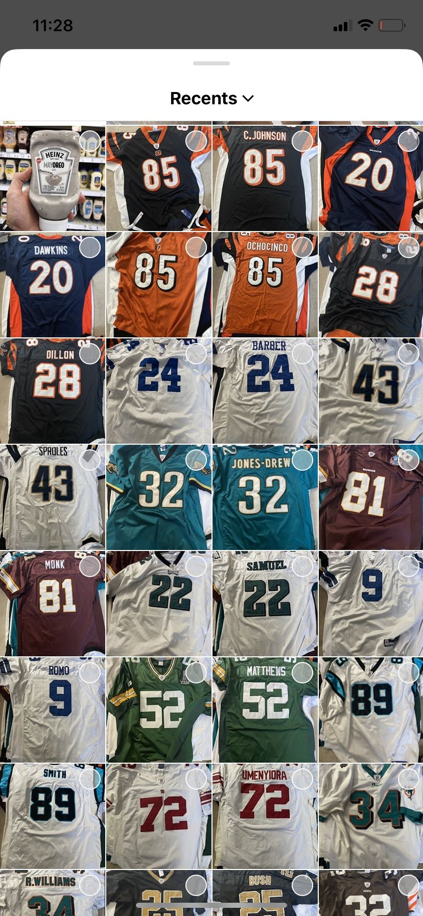 NFL Authentic Reebok Jerseys