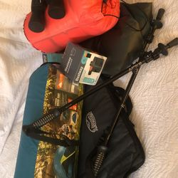 2 person tent with Queen Air mattress/ Pump To Fit  Thumbnail