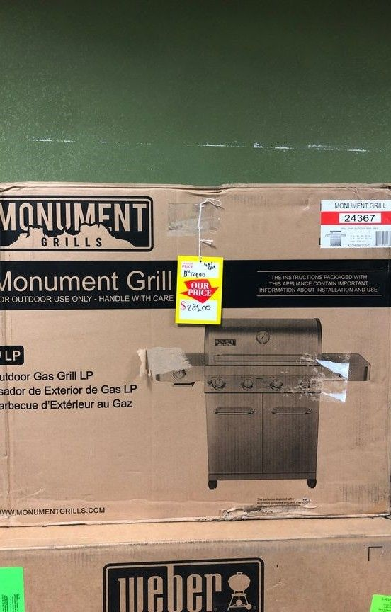 Monument Propane Gas Grill Stainless Steel ZLUN