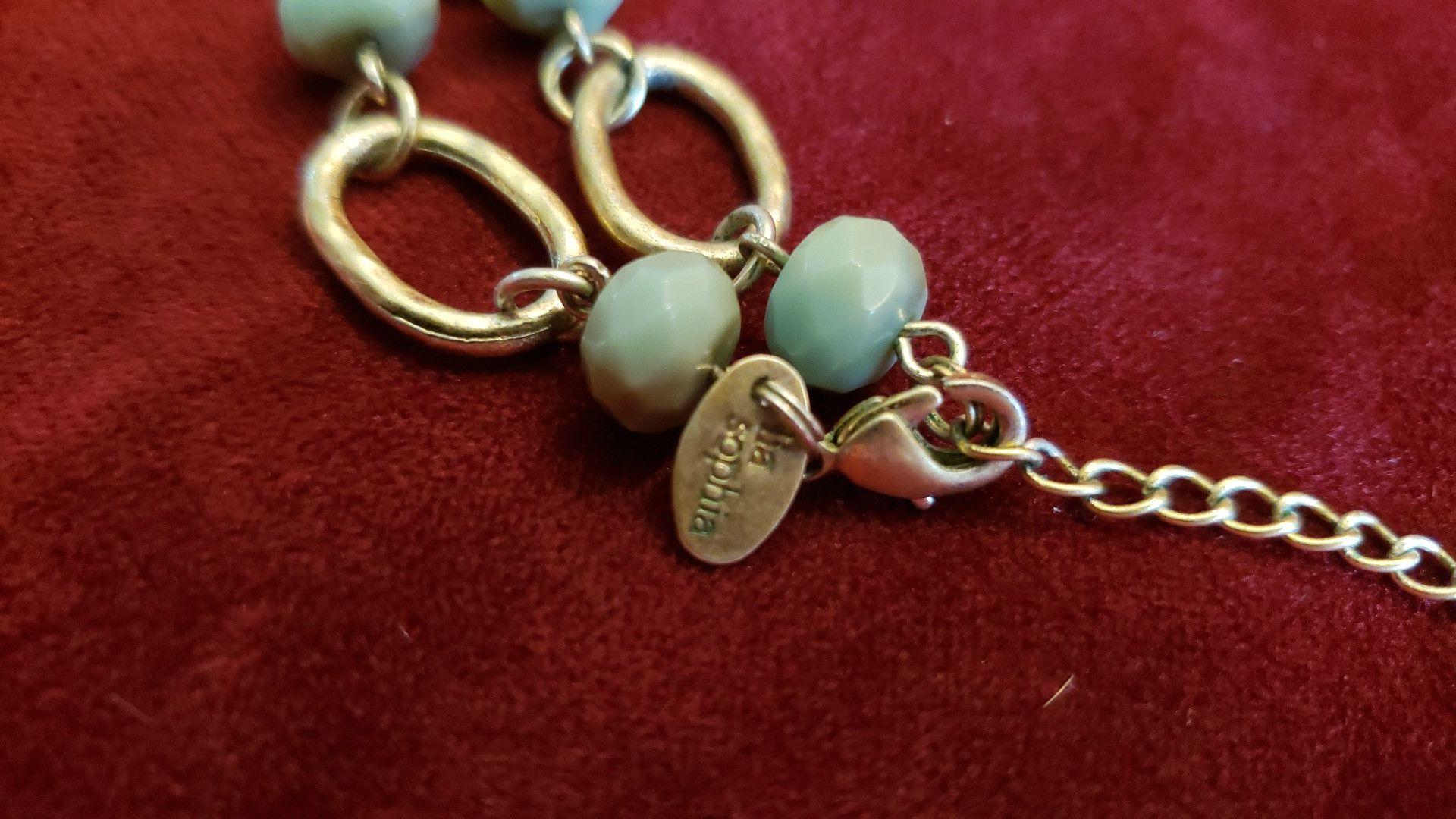 Lia Sophia retired Tahoe green turquoise necklace