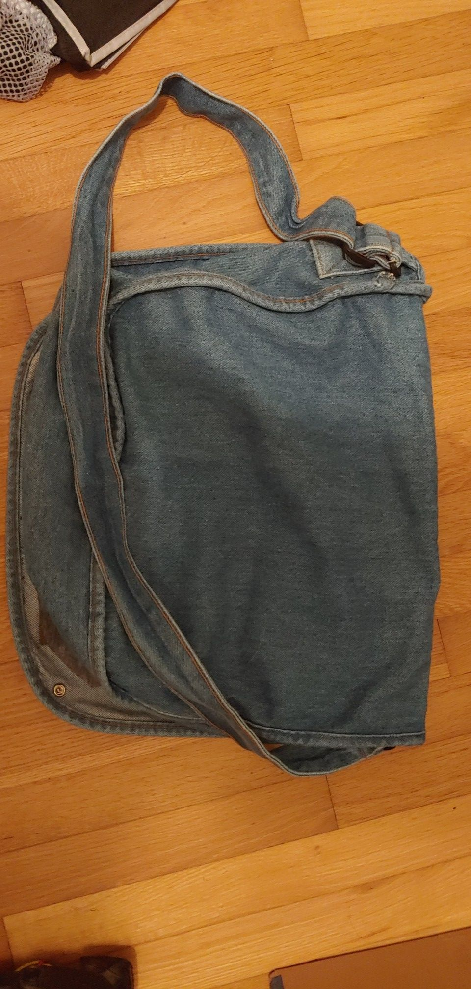 Jean Rock and Roll Messenger Bag