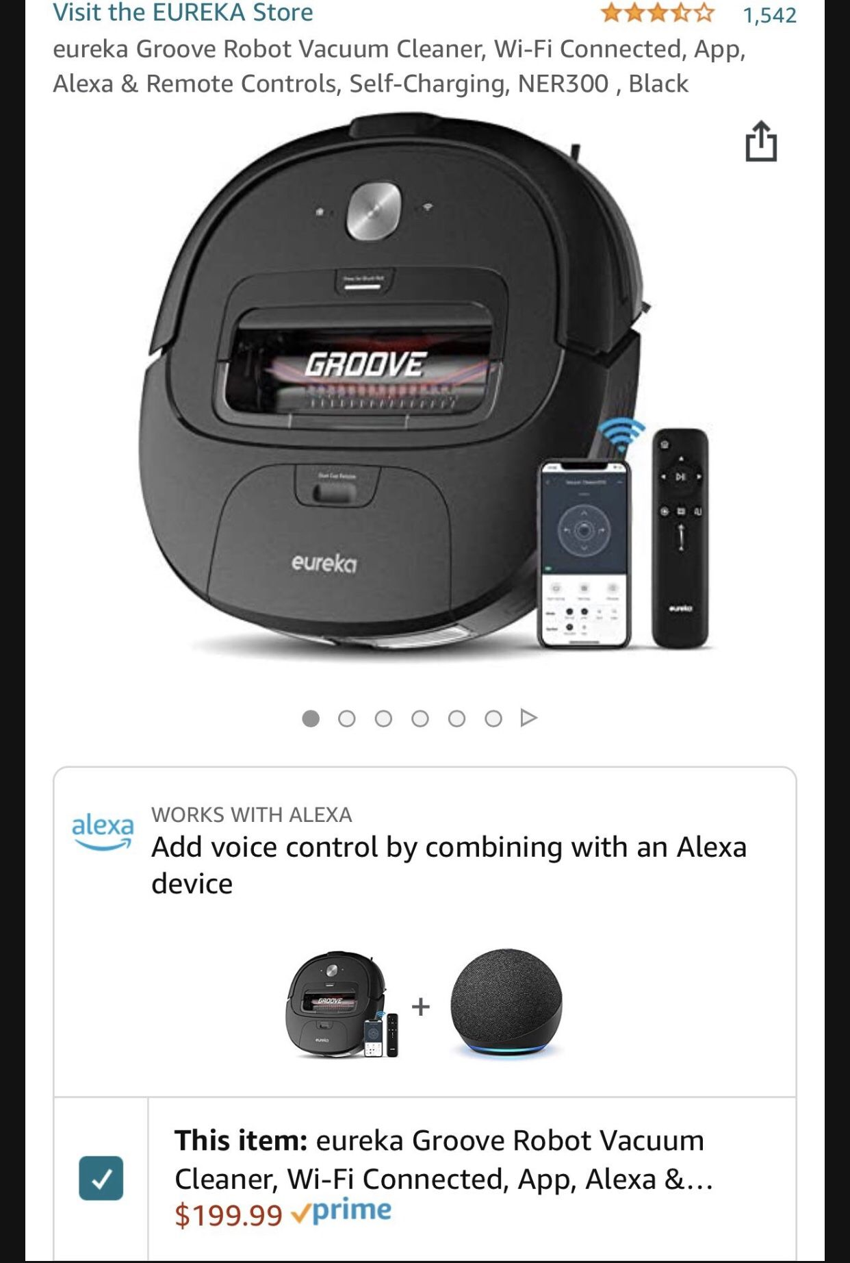 Eureka Groove Robot Vacuum