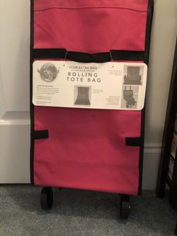Tote Bag Rolling Folds Into Compact Space New Never Used Thumbnail