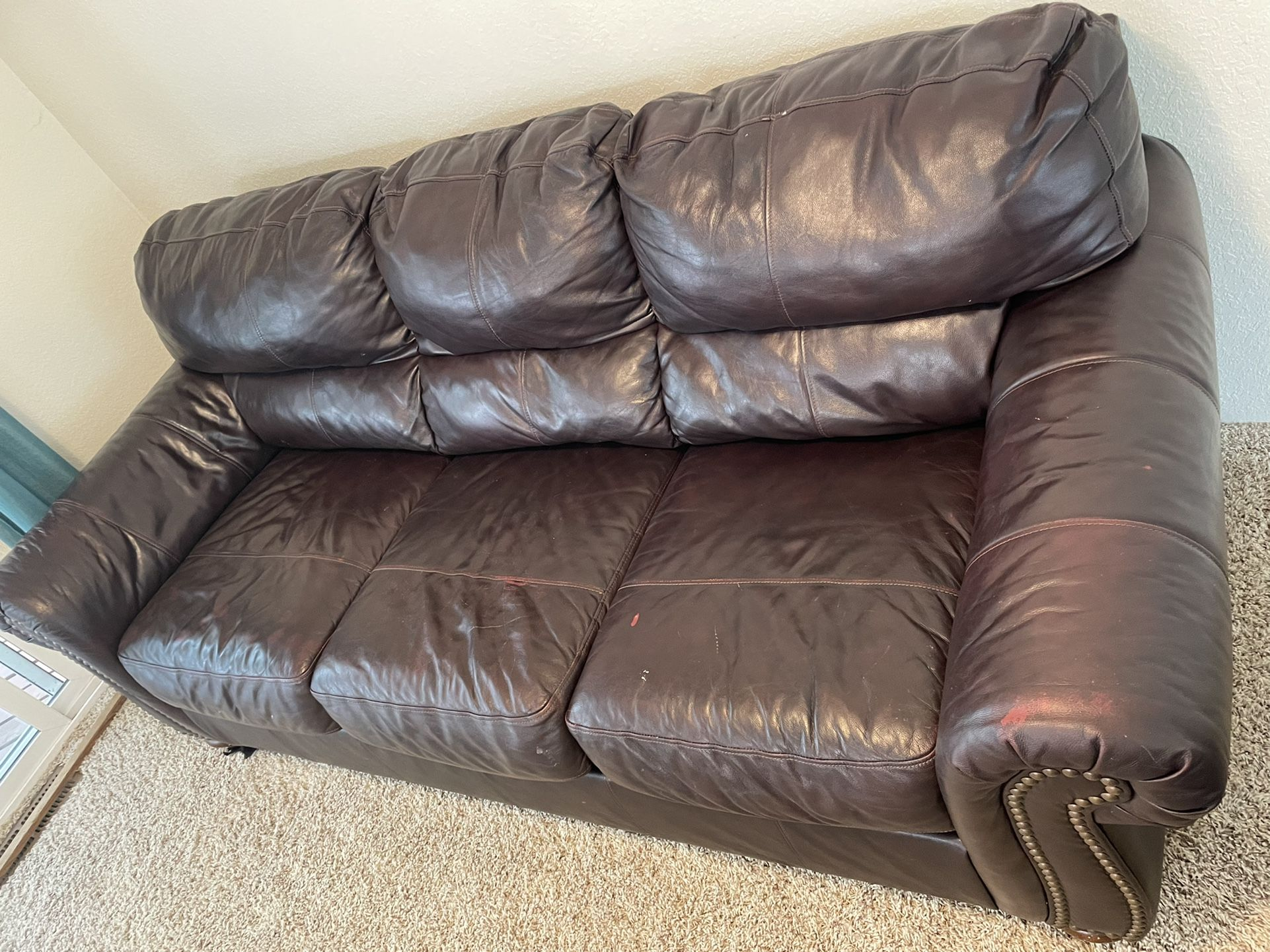 Ashley Furniture Leather Couch Set
