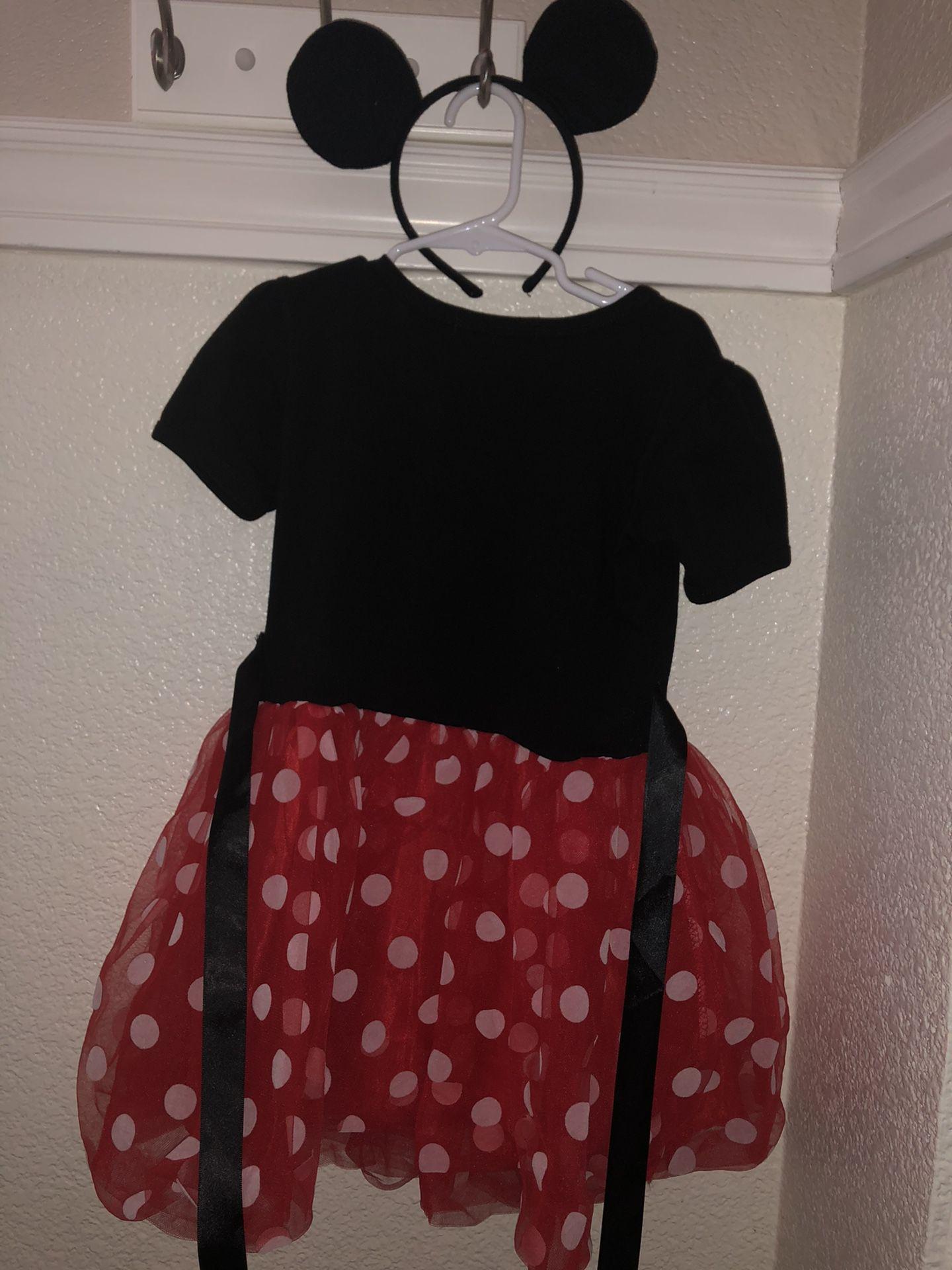 Minnie Mouse Dress with Ears Headband size 3T