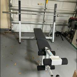 Olympic Bench Press w/ Olympic Bar & +300lbs Thumbnail