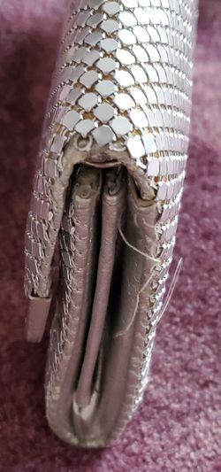 "SilverShade CrystalMetal Mesh Roll Evening Bag Clutch Purse Shoulder& chain strapMagnetic closure Metal Mesh Roll Evening Bag Clutch Purse (W10"" Thumbnail"