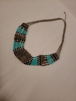 Turquoise Costume Beaded Necklace Thumbnail
