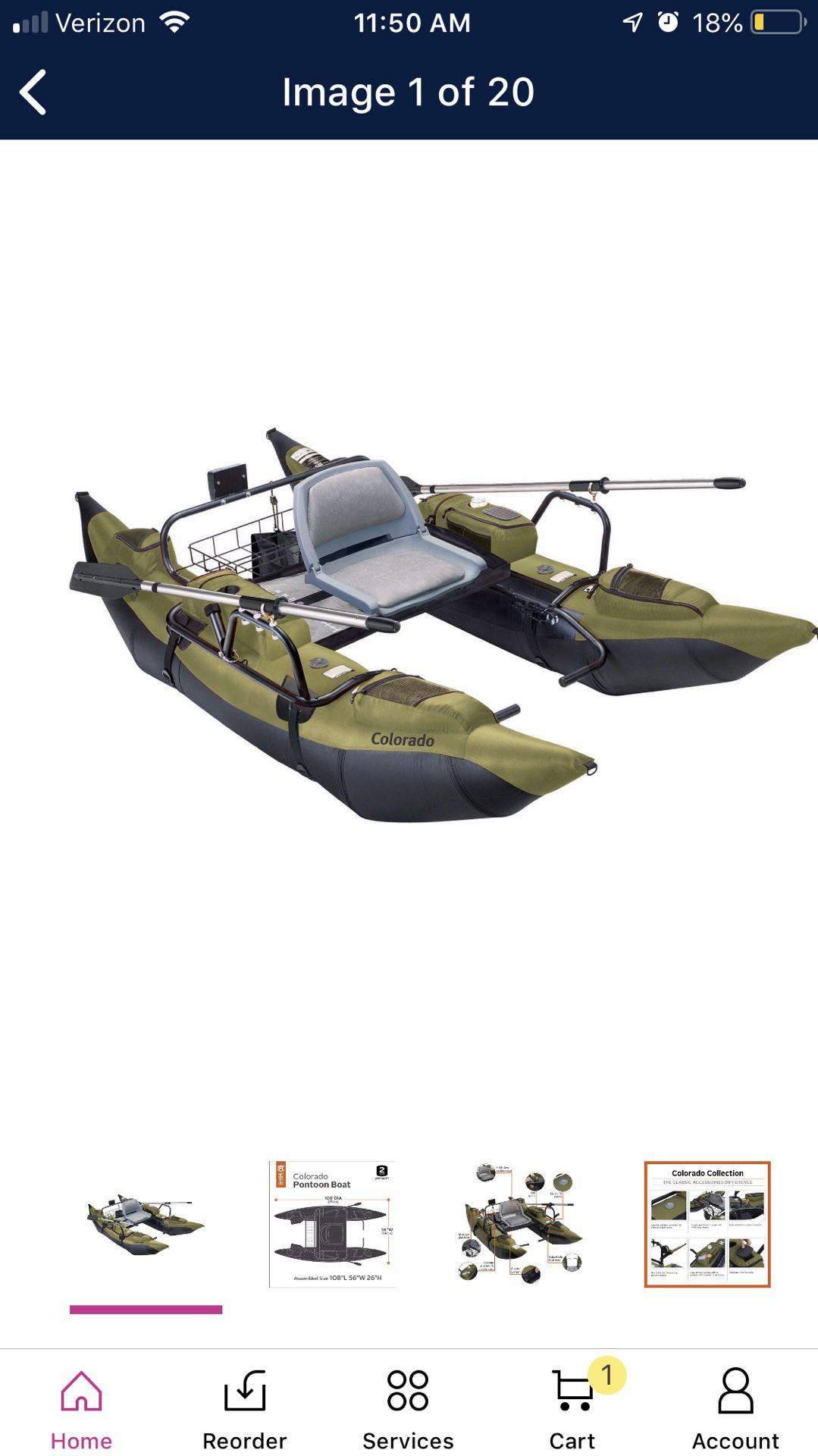 9 high pontoon boat