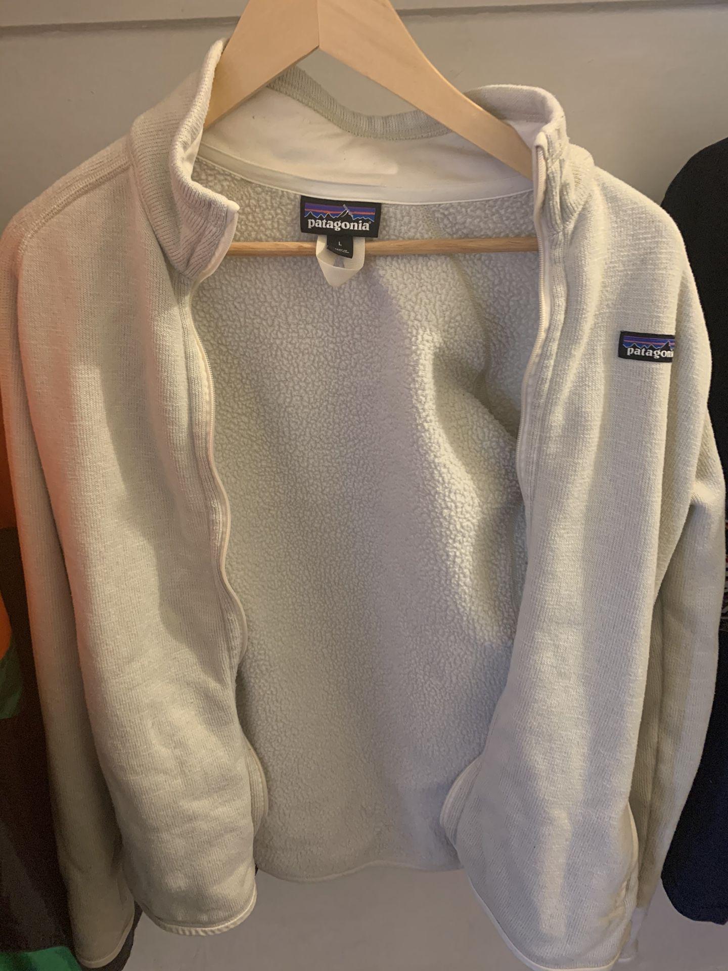 Mens Patagonia Fleece Jacket White Size L