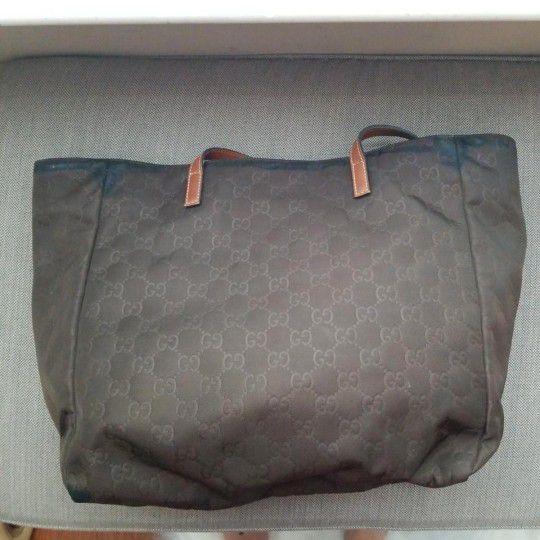 Authentic Gucci GG Monogram Supreme Nylon Tote Bag