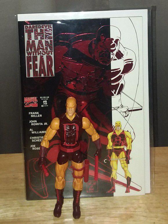 Daredevil Figure & Comic Book