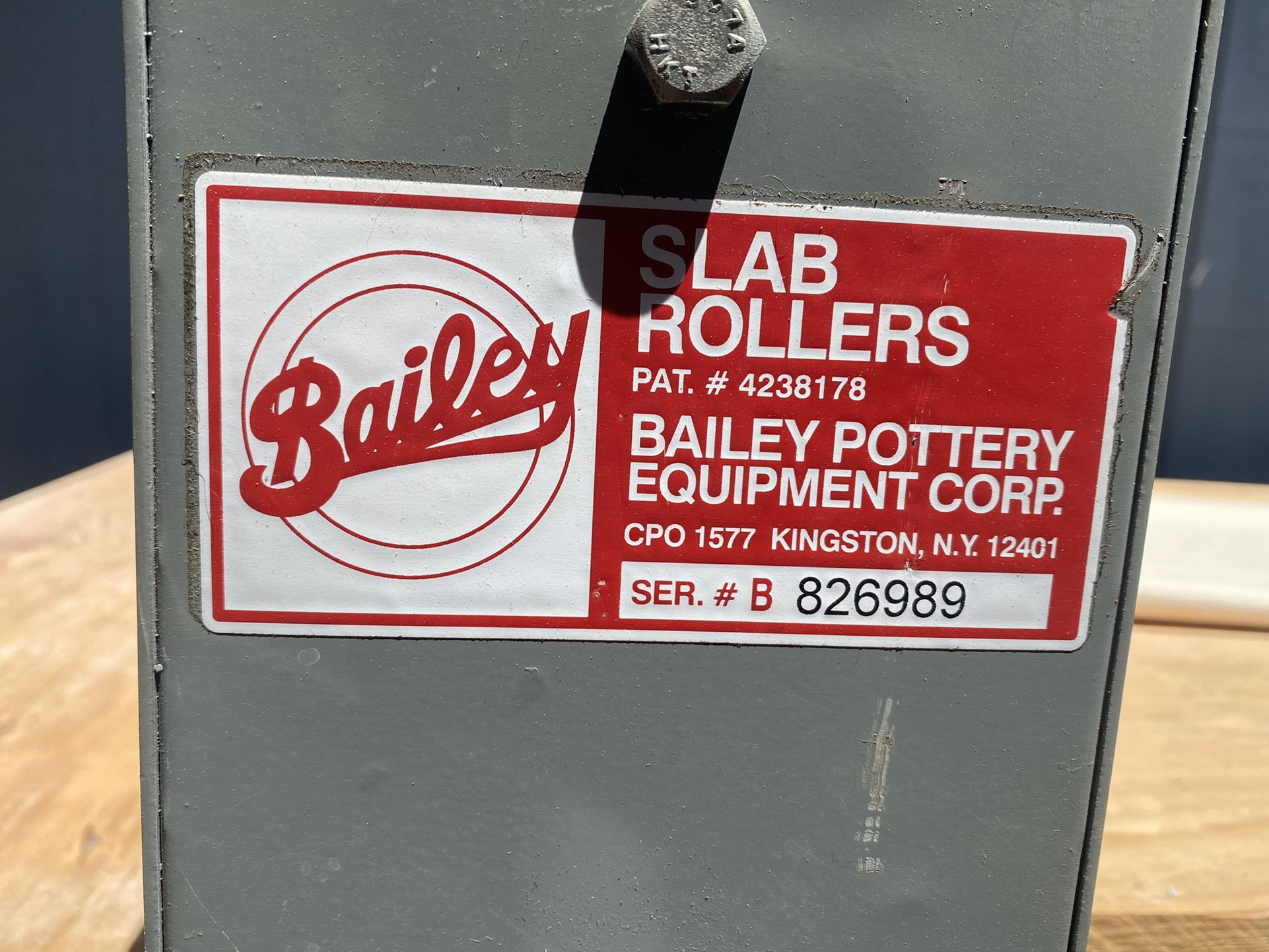 Slab Roller Bailey DRD/II 30 inch wide with table. slabs ceramics pottery art studio hand building