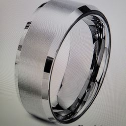 1 Set Of His And Hers Fashion Stainless Steel  Titanium Princess  Wedding Band Set Thumbnail