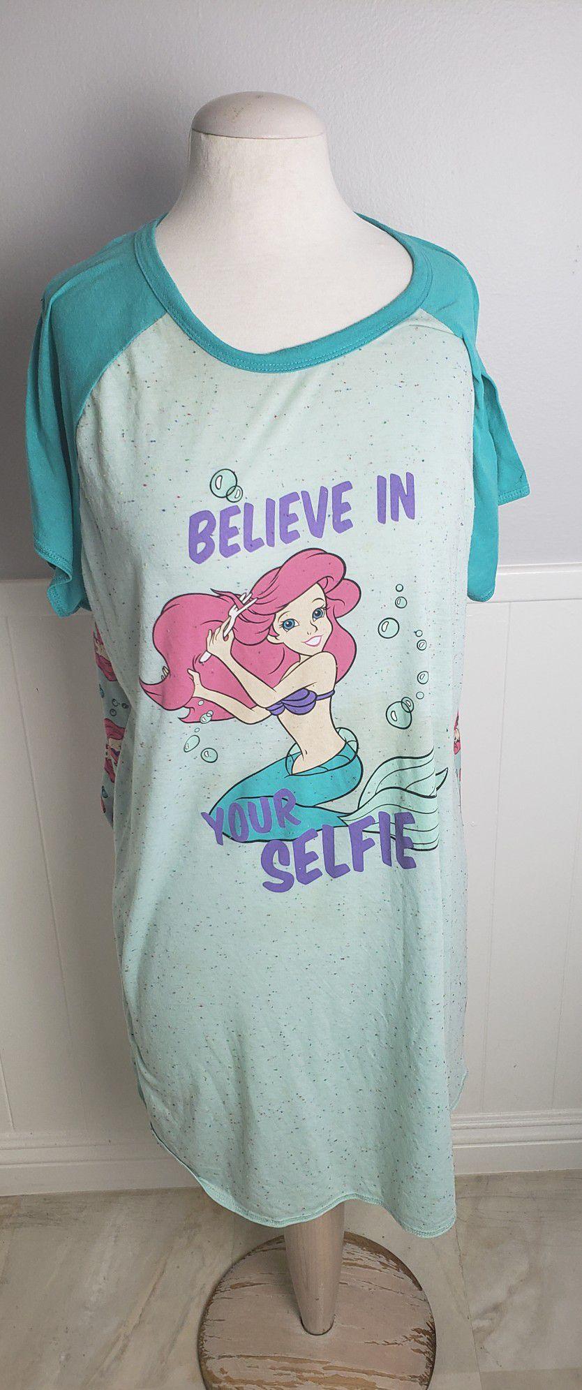 Disney Little Mermaid Women Sleepwear Dress Size 2XL