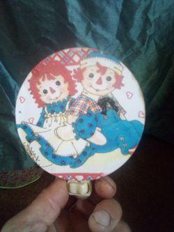 Vintage Raggedy Ann and Andy nite lite Thumbnail
