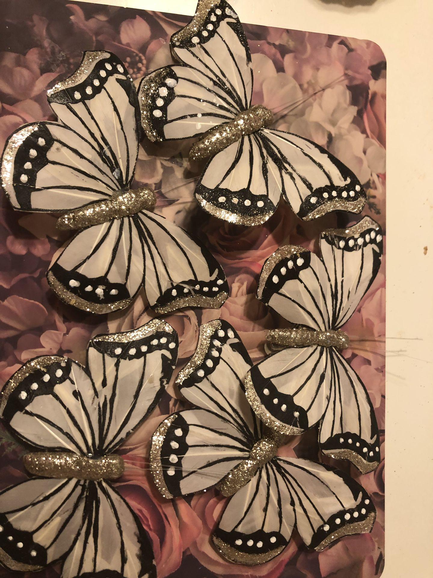 Christmas butterflies