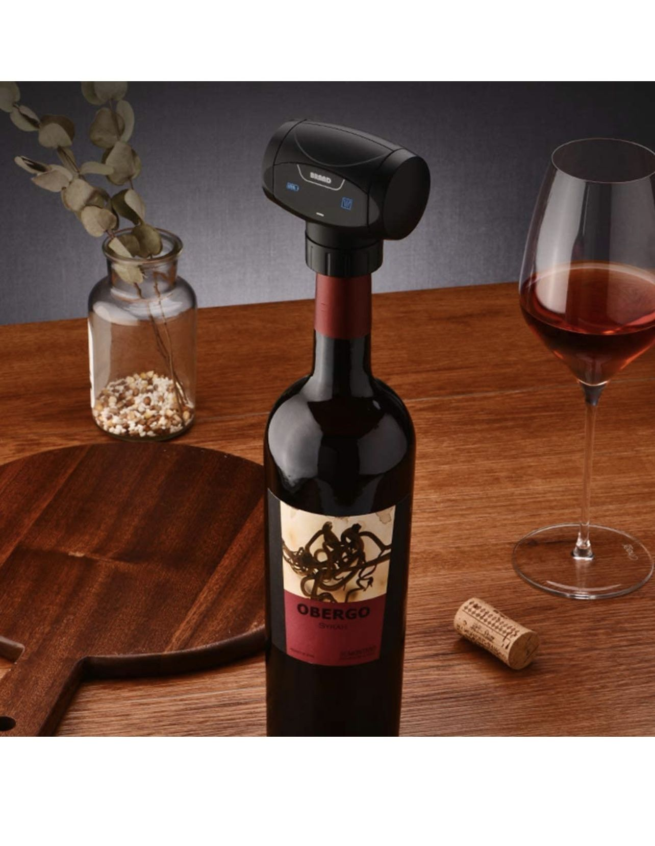 Wine Vacuum Stopper, Battery Powered Automatic 2-in-1 Electronic Wine Savers