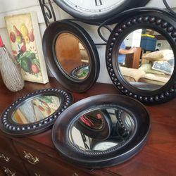 4 Pewter Mirrors Thumbnail