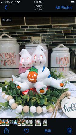 Vintage Halloween Light Up Ghost Couple  Thumbnail