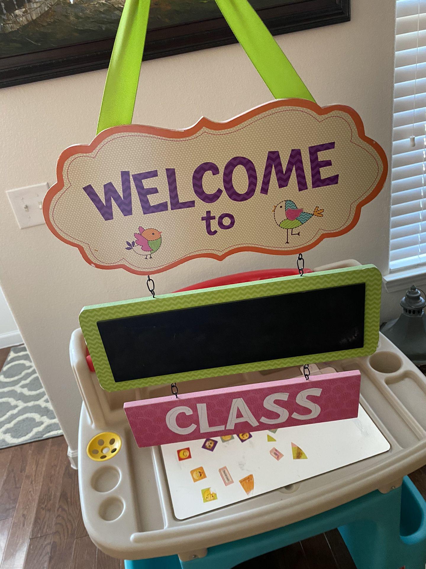 Kids Class Sign Virtual Decor