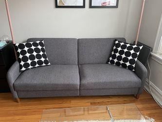 Modern Grey Sleeper Couch Thumbnail