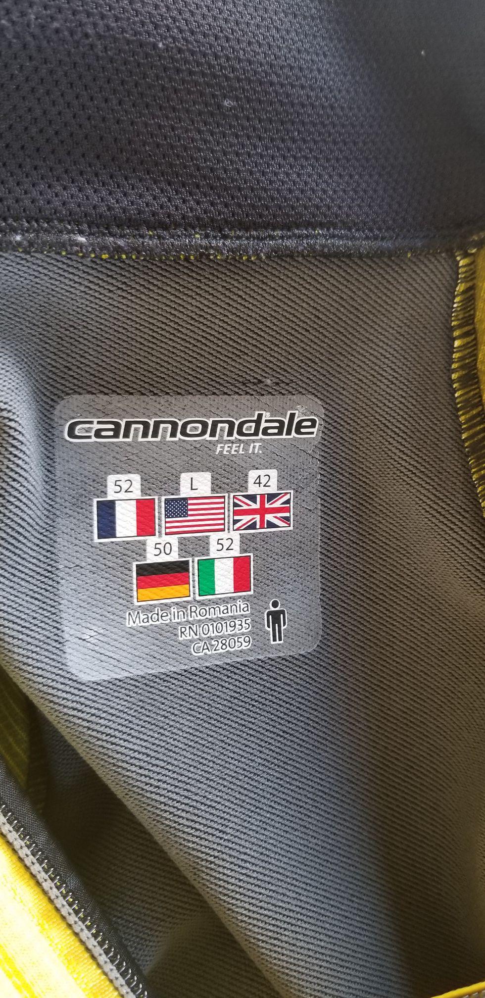 Cannondale carbon jacket size large