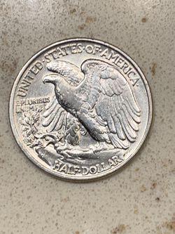 •*•1943 Silver Walking Liberty Half Dollar•*• Thumbnail