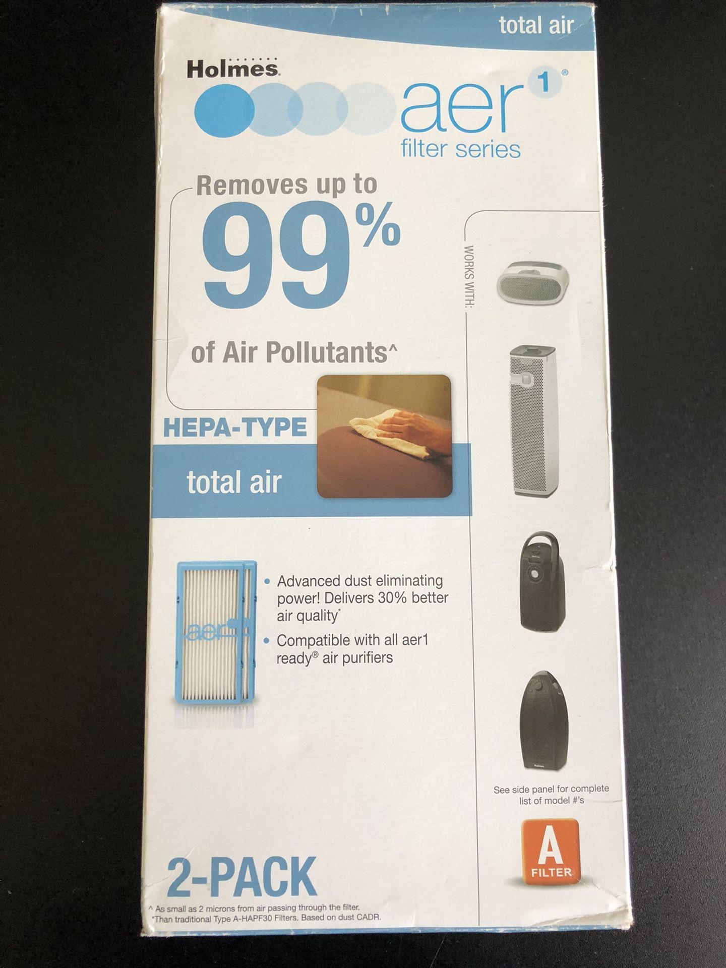 Holmes AER1 Total Air HEPA Type Filter 2 Pack