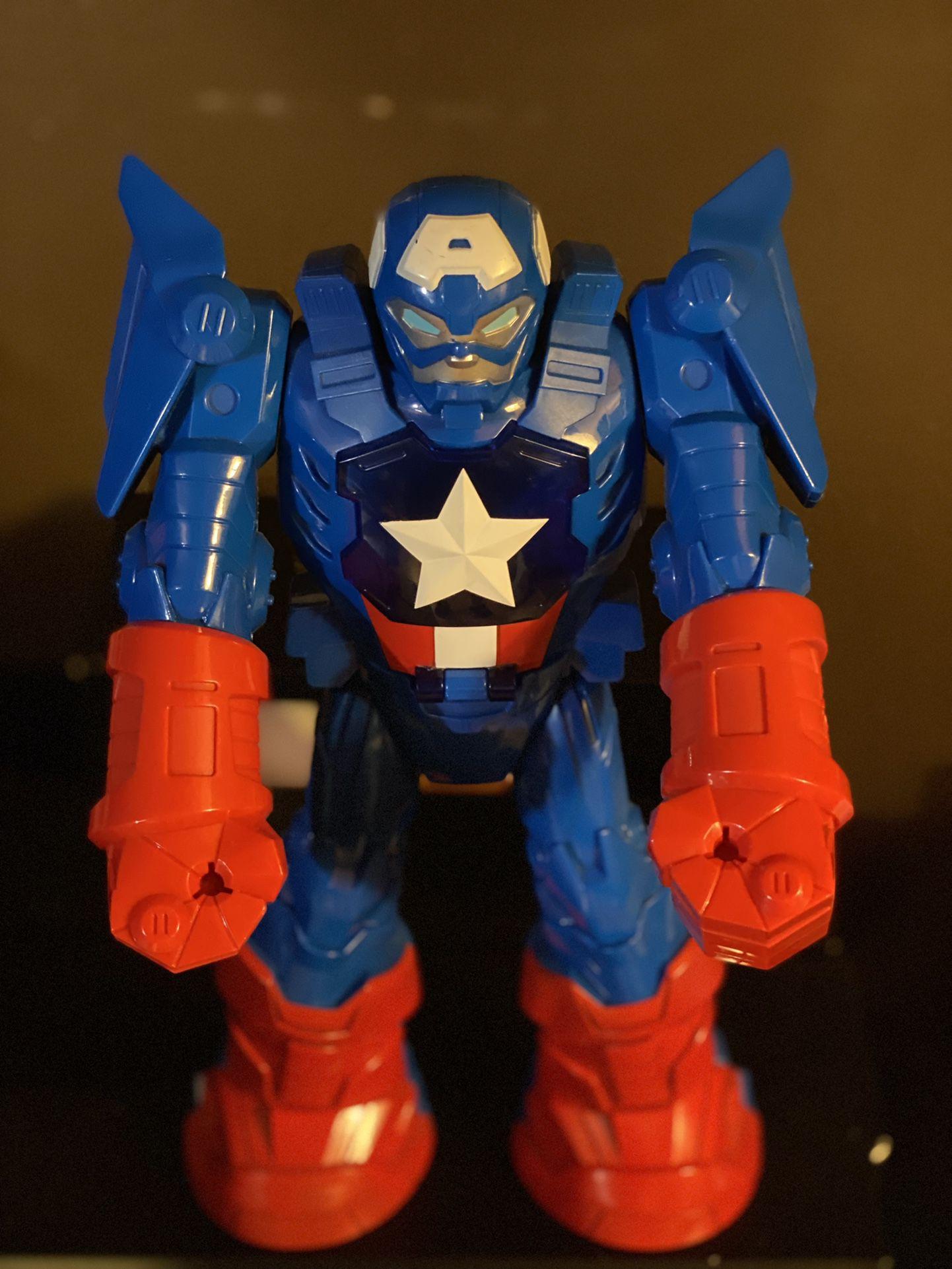 Captain America Robot Figure