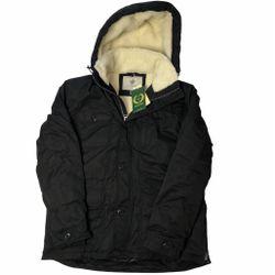NEW! Black Winter Waterproof Parka Coat Windbreaker L Thumbnail