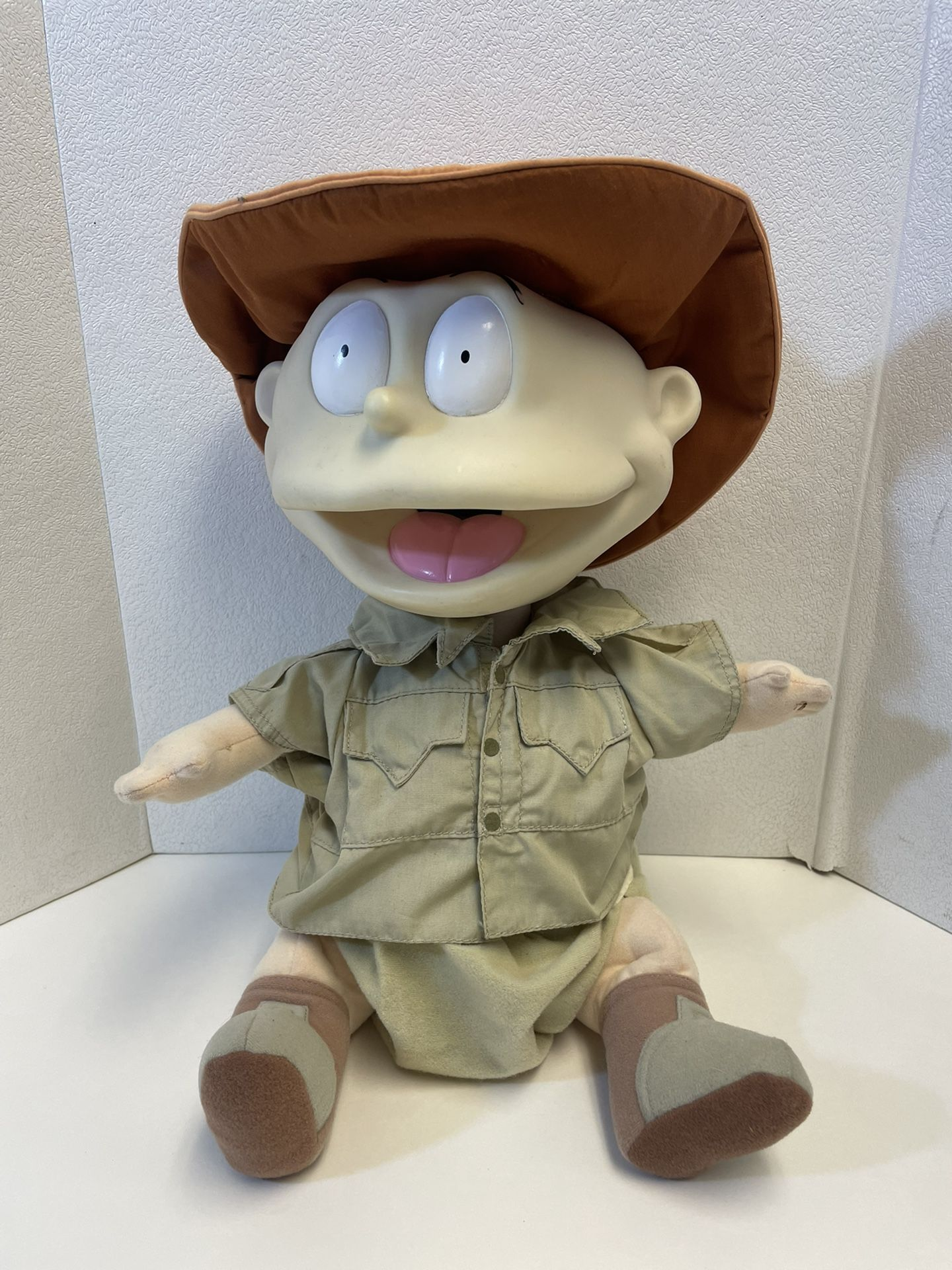 "Vintage 1998 Tommy Pickles Safari Talking Rugrats Plush Doll Figure 17"" Tested"