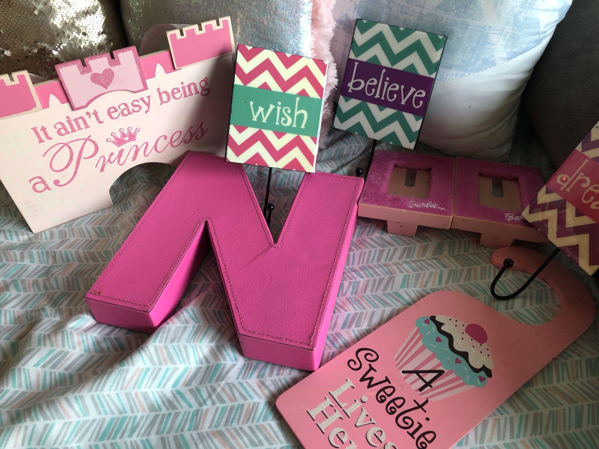 Pink Little Girls Room Decor