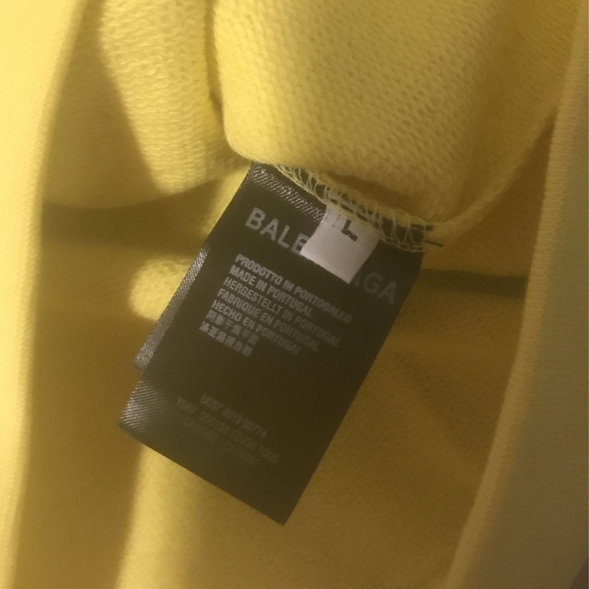 Yellow Balenciaga Hoodie Size L