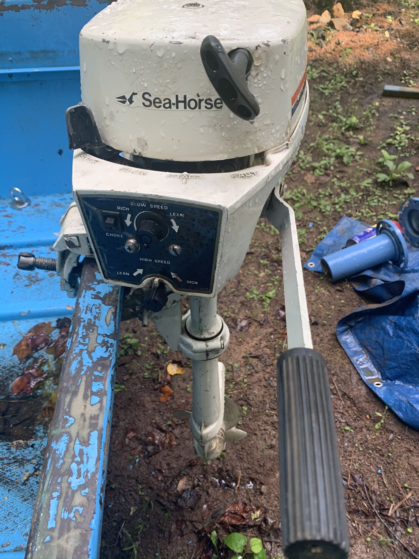 Johnson Outboard 2hp AND BOAT