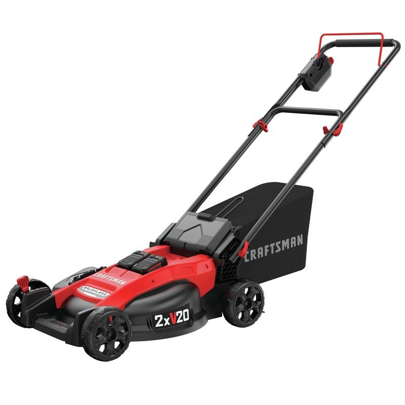 Craftsman V20 Max 20 in. 20 volt Battery Lawn Mower Kit (Battery & Charger) - Case Of: 1;