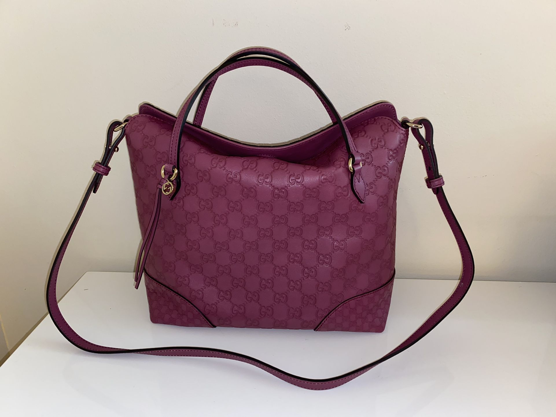 Authentic Gucci Bree Top Handle Convertible Tote Bag