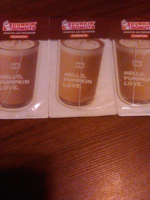 6 Dunkin' Donuts Coffee Scented Car Air Fresheners