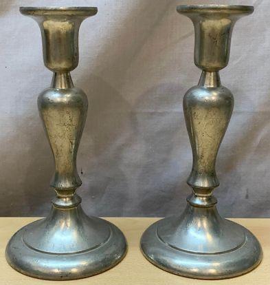 Vintage Daalderop Royal Holland Pewter Candlestick Holders