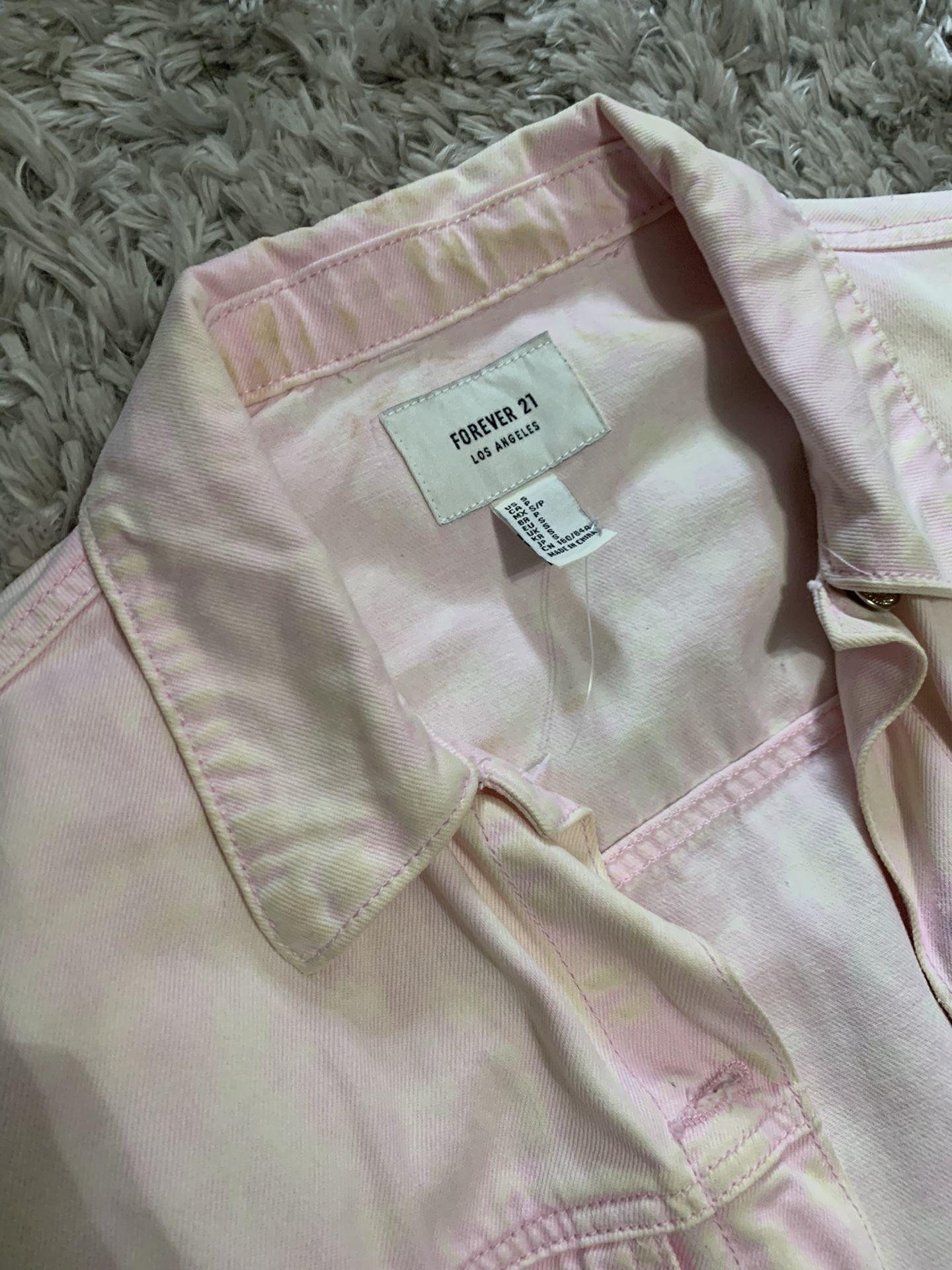 Forever 21 Pink Denim Jacket