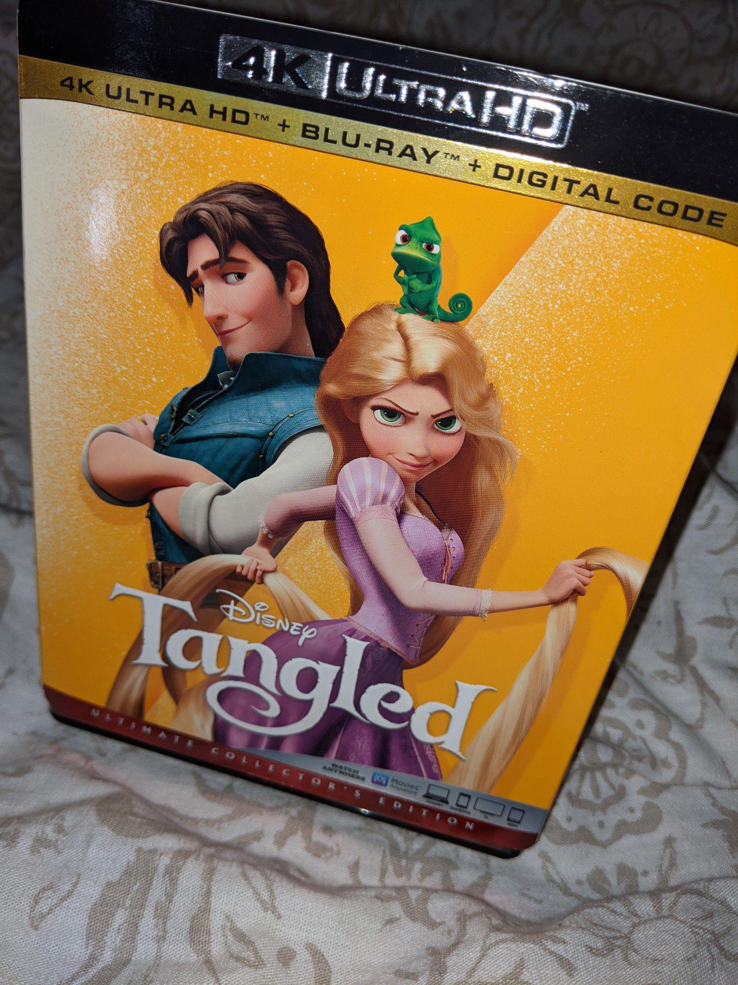 Tangled 4k Blu-ray with digital code