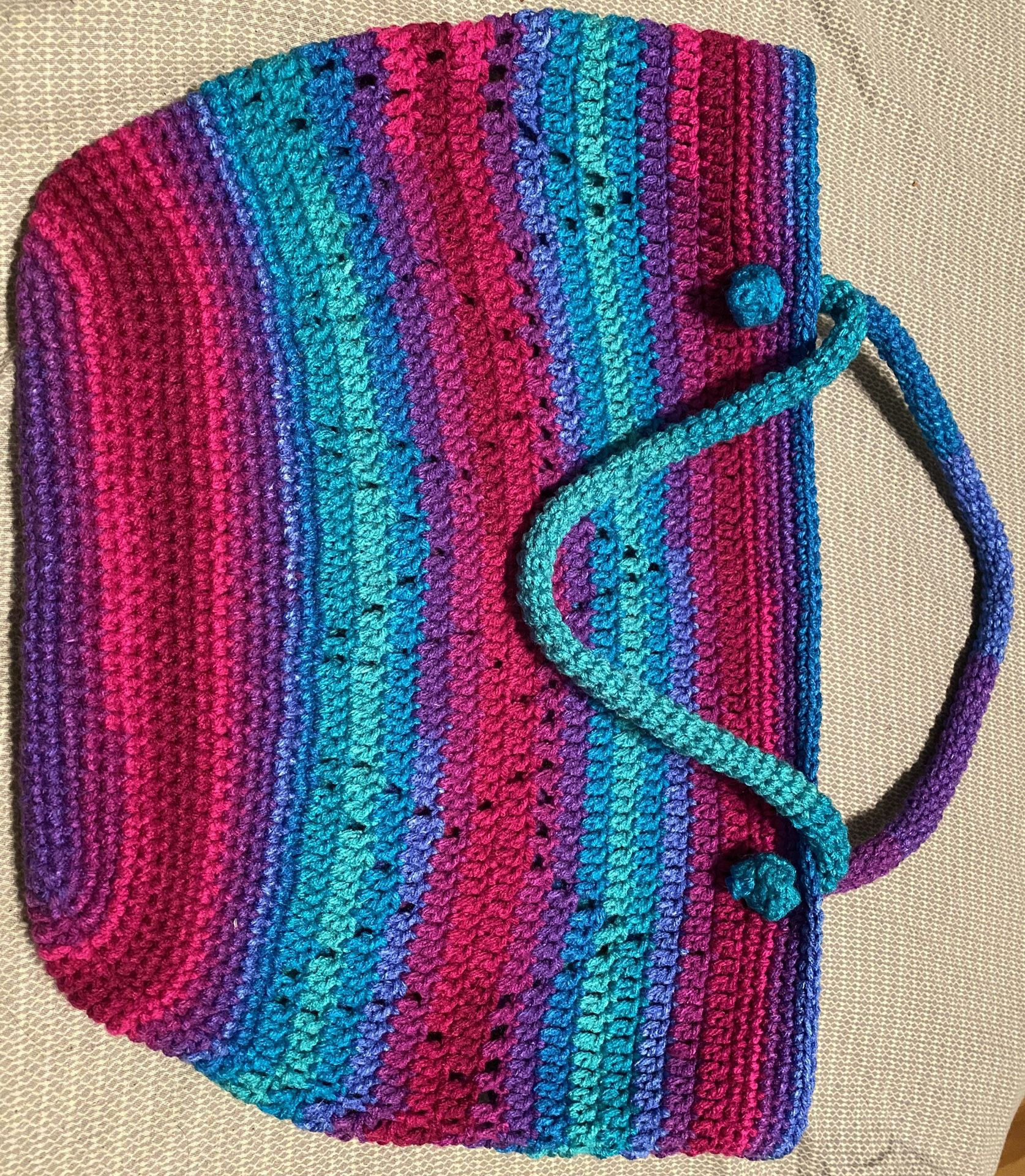 Crochet star market/tote bag